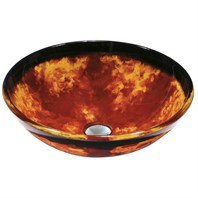 Vigo Industries Auburn Mocha Fusion Glass Vessel Sink