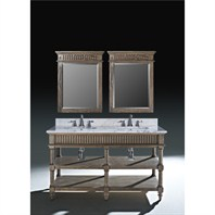 "Luxe Toscano 60"" Double Bathroom Vanity - Oiled Oak B7037BV60-O136"