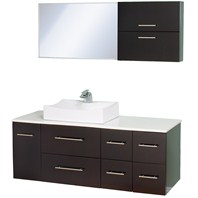 "Christo 54"" Modern Bathroom Vanity Set - Espresso WHE010-ESP"