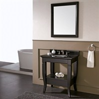 "Avanity Milano 31"" Single Bathroom Vanity - Black - Undermount Sink MILANO-V30-BK Undermount"