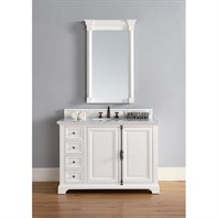 "James Martin 48"" Providence Single Cabinet Vanity - Cottage White 238-105-V48-CWH"
