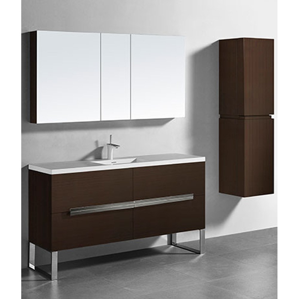 "Madeli Soho 60"" Single Bathroom Vanity for Integrated Basin - Walnut B400-60C-001-WA"