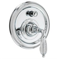 JADO Classic Pressure Balance Diverter Valve Set Trim - Crystal Lever Handle