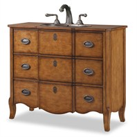 "Cole & Co. 43"" Designer Series Collection Wayfarer Chestnut Vanity - Medium Chestnut 11.24.275543.06"