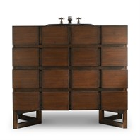 "Cole & Co. 40"" Designer Series Hudson Chest - Medium Walnut 11.24.275540.24"