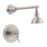 "Danze® Sonora™ Single Handle Shower Only Faucet Trim Kit with 4"" Showerhead - Brushed Nickel"