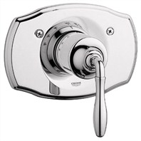 Grohe Seabury Thermostat Trim with Lever Handle - Sterling Infinity Finish