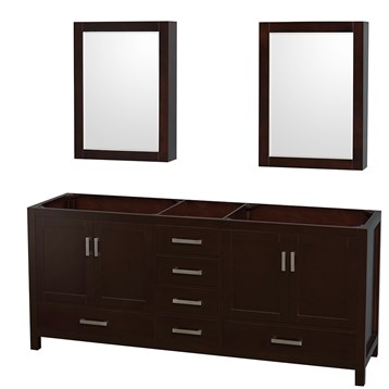 Sheffield 80 double bathroom vanity by wyndham collection espresso free shipping modern for 80 bathroom vanities without tops