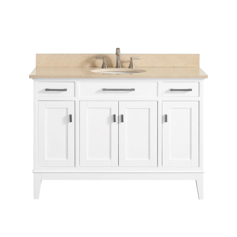 """Avanity Madison 48"""" Bathroom Vanity - Whitenohtin Sale $952.00 SKU: MADISON-48-WT :"""