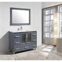 "Design Element Stanton 48"" Bathroom Vanity Set with Drop-In Sink - Gray B48-DS-G"