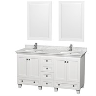 Acclaim 60 in. Double Bathroom Vanity by Wyndham Collection - White WC-CG8000-60-DBL-VAN-WHT-
