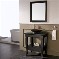 "Avanity Milano 31"" Single Bathroom Vanity Set - Black - Overmount Sink MILANO-VS30-BK-VE"