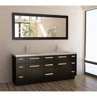 "Design Element Moscony 72"" Double Sink Vanity Set - Espresso J72-DS"