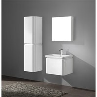 "Madeli Euro 24"" Bathroom Vanity with Integrated Basin - Glossy White Euro-24-GW"