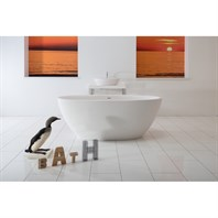 Aquatica Sensuality Mini Freestanding Solid Surface Bathtub - Matte White Aquatica Sensuality-Mini