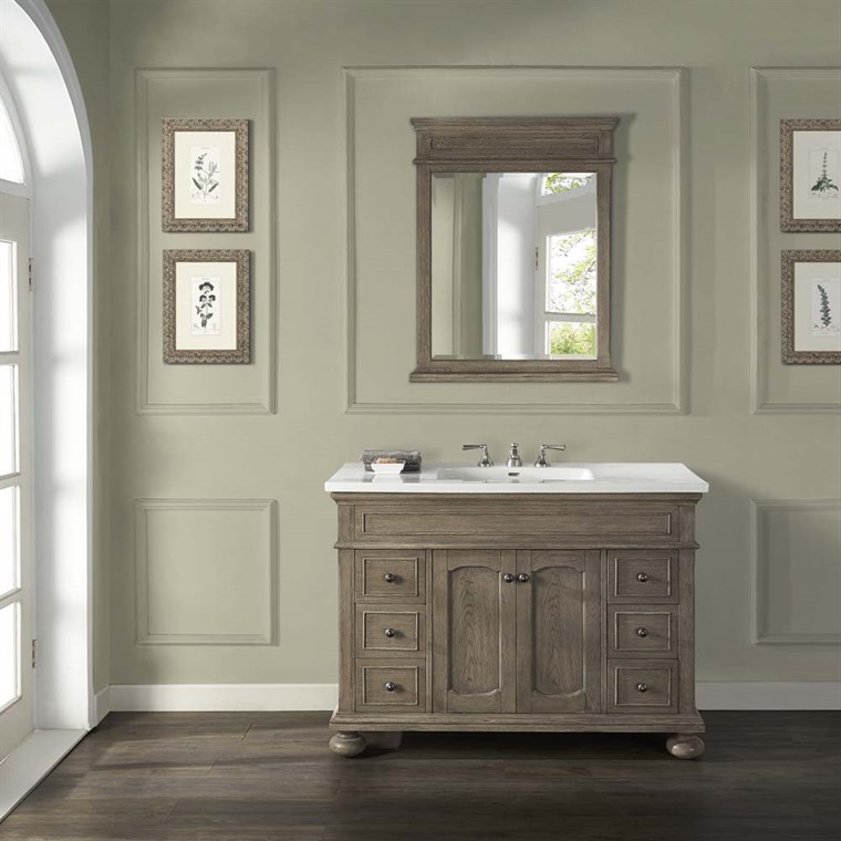"Fairmont Designs Oakhurst 48"" Vanity for Integrated Top - Antique Grey 1535-V48-"