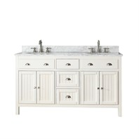 "Avanity Hamilton 60"" Double Bathroom Vanity - French White HAMILTON-60-FW"