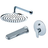 fluid Utopia Pressure Balancing Tub & Shower Trim Set F1840-T