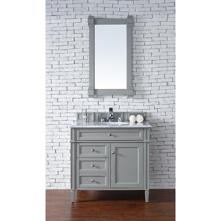 "James Martin 36"" Brittany Single Vanity - Urban Gray 650-V36-UGR"