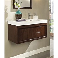 "Fairmont Designs Seascape 36"" Wall Mount Vanity & Sink Set - Whiskey 152-WV36R"