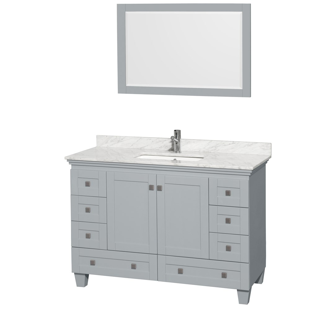 Acclaim 48 in. Single Bathroom Vanity by Wyndham Collection - Oyster Graynohtin Sale $999.00 SKU: WC-CG8000-48-SGL-VAN-OYS- :