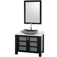 Vara Bathroom Vanity - Espresso Finish with White Carrera Marble Counter CG3003-36-ESP-WHTCAR