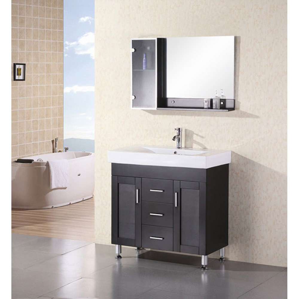 "Design Element Milan 36"" Bathroom Vanity - Espressonohtin Sale $999.00 SKU: DEC021 :"