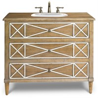 "Cole & Co. 41"" Designer Series Genevieve Hall Chest - Antiqued Natural Cherry Solids 11.23.275541.07"