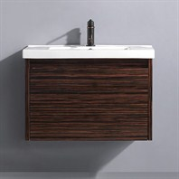 "Vigo 32"" Espresso Petit Single Bathroom Vanity - Ebony VG09035109K1"