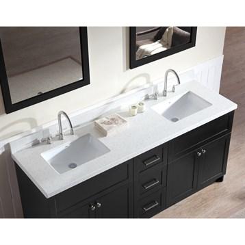 Ariel Hamlet 73 Quot Double Sink Vanity Set With White Quartz