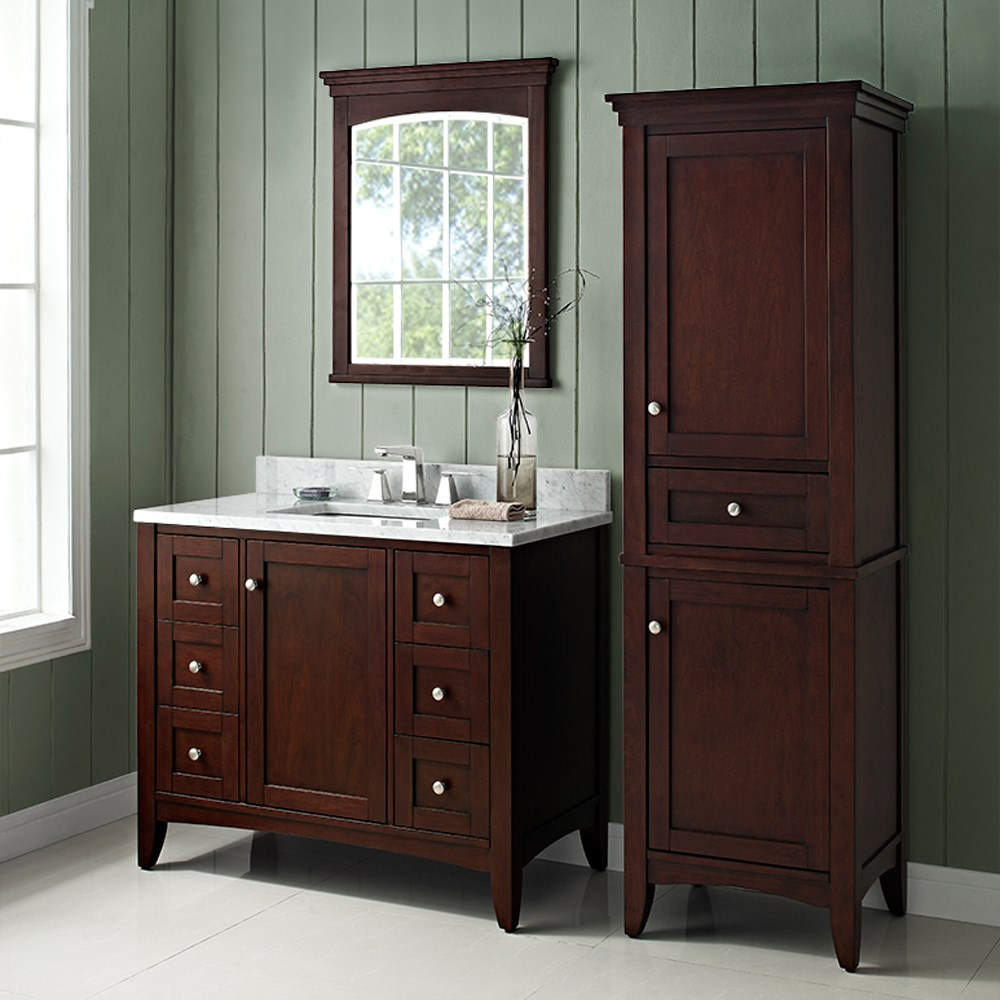 "Fairmont Designs Shaker Americana 42"" Vanity - Open Shelf for 1-1/4"" Thick Top - Habana Cherry 1513-VH42--"