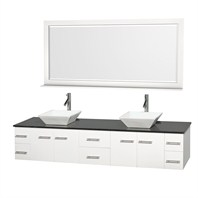 "Bianca 80"" Wall-Mounted Double Bathroom Vanity - White WHE007-80-WHT"