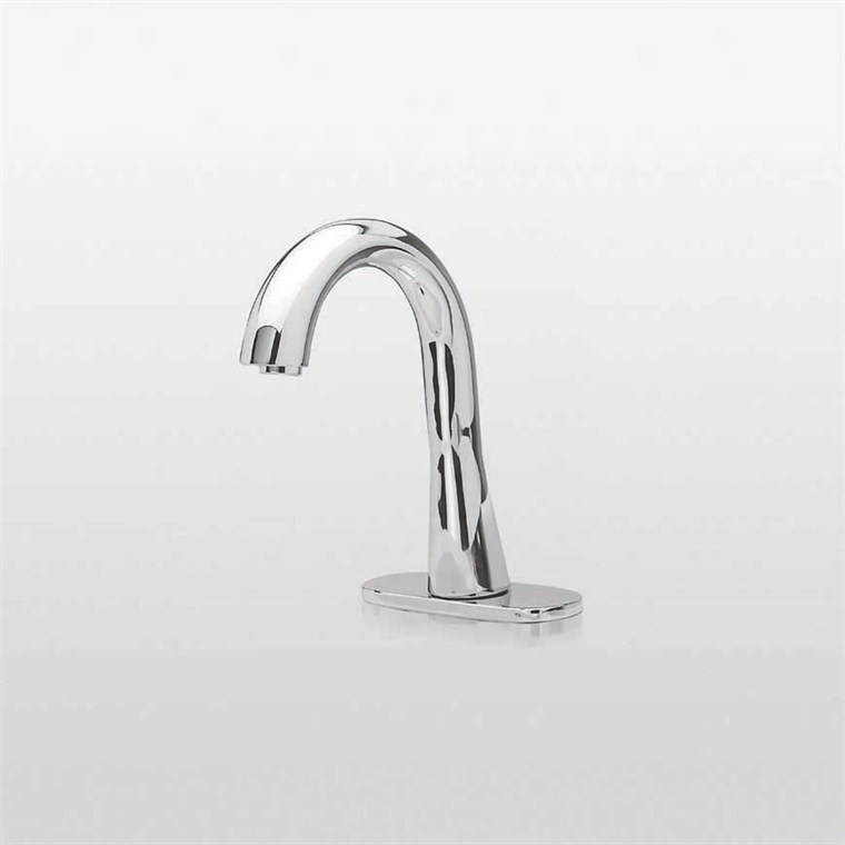 TOTO Gooseneck EcoPower Sensor Faucet, Thermal Mixing - 1.0 GPM - Polished Chrome TEL5GG10R.CP