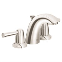 "Grohe Arden 4"" Mini Lavatory Wideset - Brushed Nickel Infinity GRO 20120EN1"