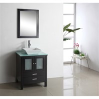 "Virtu USA Brentford 28"" Single Sink Bathroom Vanity - Espresso MS-4428"