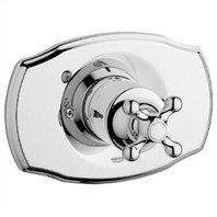 Grohe Seabury Pressure Balance Valve Trim with Cross Handle - Starlight Chrome