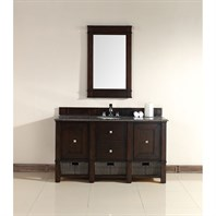 "James Martin 60"" Madison Single Vanity - Burnished Mahogany 800-V60S-BNM"