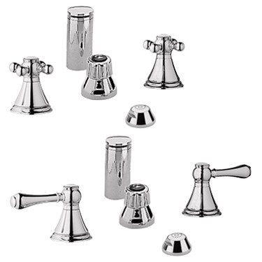 Grohe Geneva Wideset Bidet Faucet - Sterling Infinity Finish