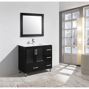 "Design Element Stanton 40"" Bathroom Vanity Set with Drop-In Sink, Espresso B40-DS by Design Element"