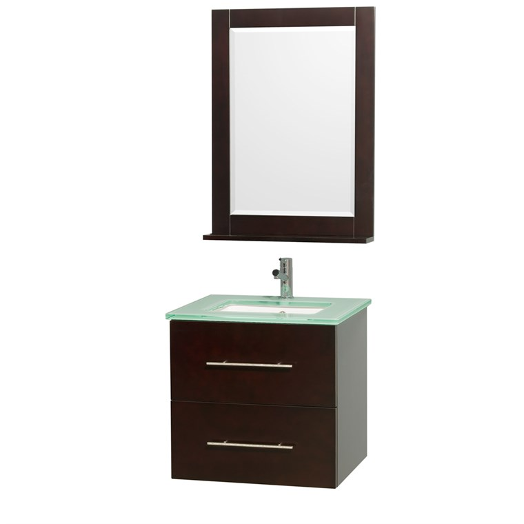 "Centra 24"" Single Bathroom Vanity for Undermount Sinks by Wyndham Collection - Espresso WC-WHE009-24-SGL-VAN-ESP-"