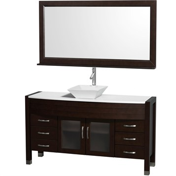 "Daytona 60"" Bathroom Vanity with Vessel Sink and Mirror by Wyndham Collection, Espresso WC-A-W2109-60-T-ESP- by Wyndham Collection®"