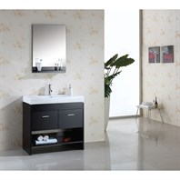 "Virtu USA Gloria 36"" Single Sink Bathroom Vanity - Espresso MS-555-C-ES"