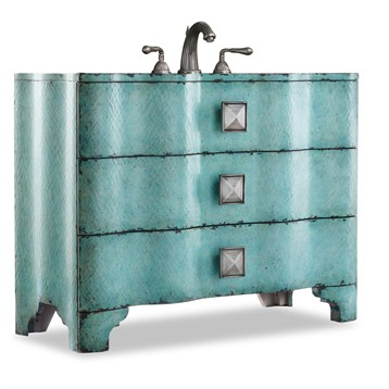 """Cole & Co. 44"""" Designer Series Collection Chambers Sink Chest, Turquoise 11.22.275544.38 by Cole & Co."""