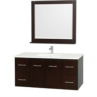 "Centra 48"" Single Bathroom Vanity Set by Wyndham Collection - Espresso WC-WHE009-48-ESP"