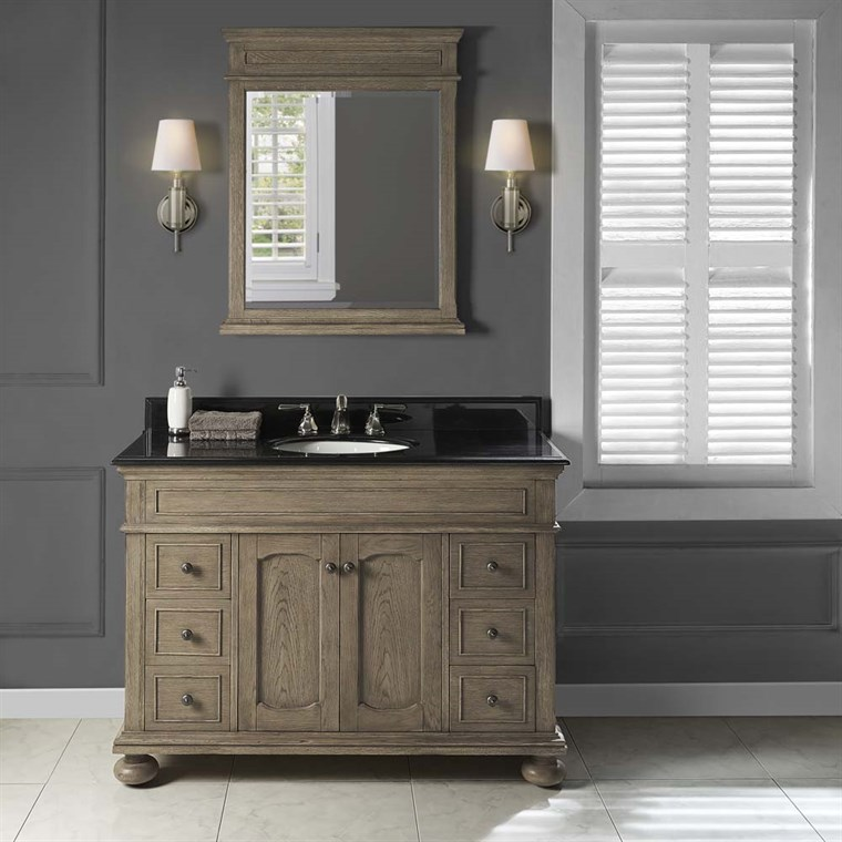 "Fairmont Designs Oakhurst 48"" Vanity for Undermount Oval - Antique Grey 1535-V48_"