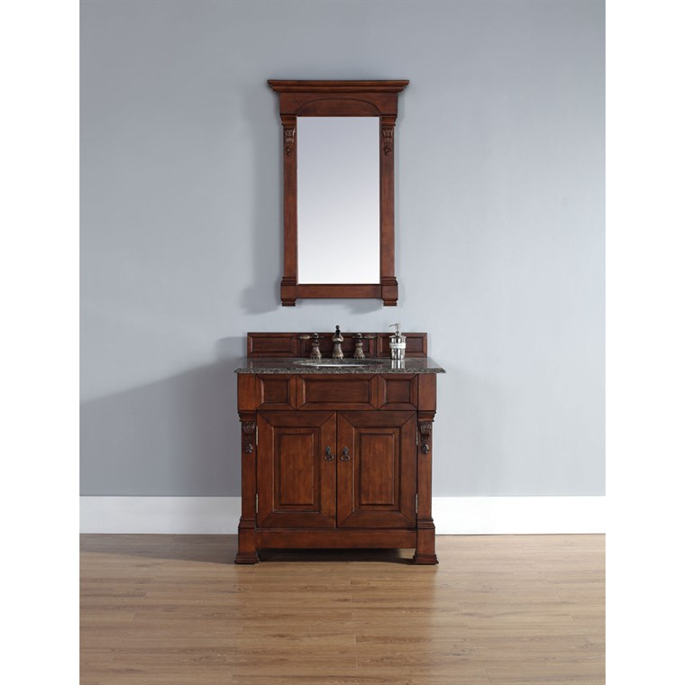 "James Martin 35"" Brookfield Single Vanity - Warm Cherry 147-114-5581"