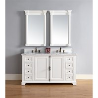 "James Martin 60"" Providence Double Cabinet Vanity - Cottage White 238-105-V60D-CWH"