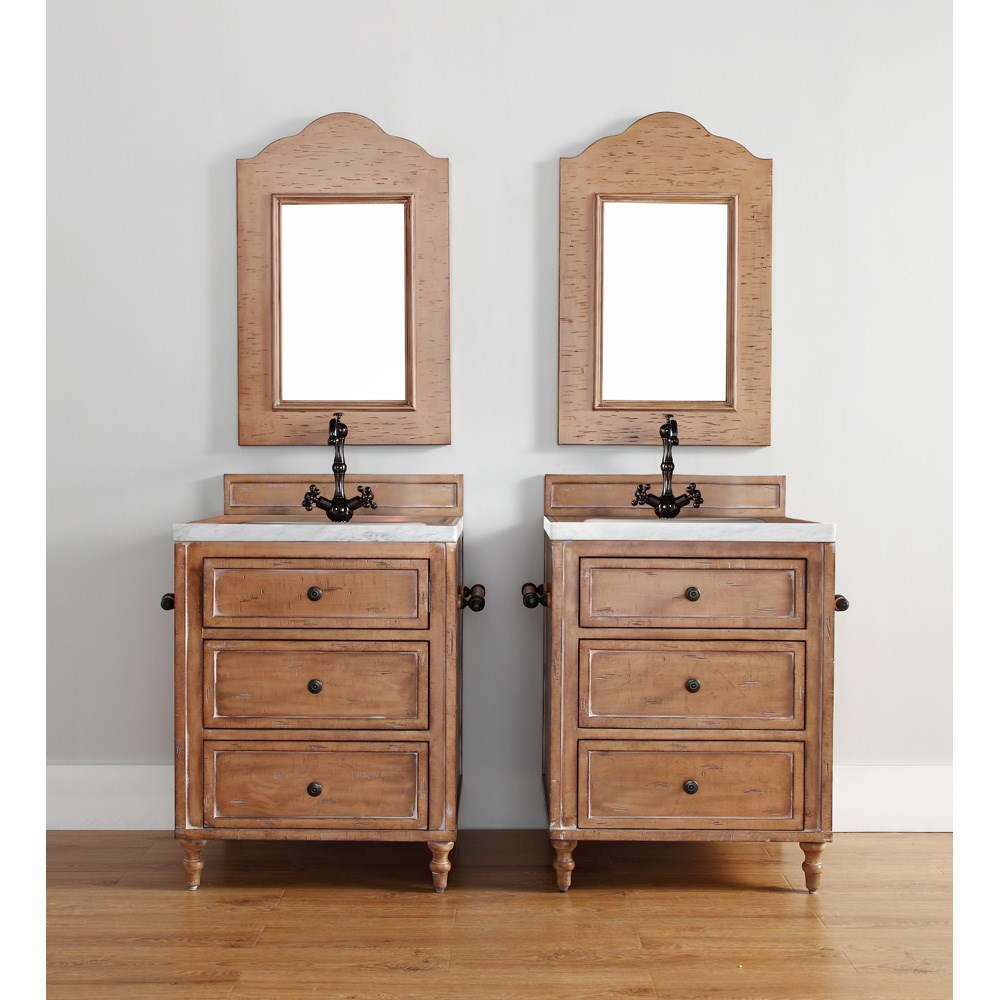 "James Martin 26"" Copper Cove Single Vanity - Driftwood Patina 300-V26-DRP"