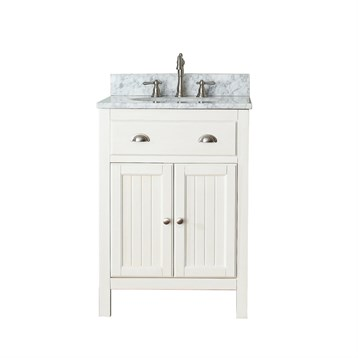 "Avanity Hamilton 24"" Single Bathroom Vanity with Countertop, French White HAMILTON-24-FW by Avanity"