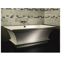 "MTI Intarcia Freestanding Bathtub w/ Inverted Pedestal (67"" x 40"" x 24"")"